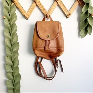 Vintage Coach Tan Leather Backpack